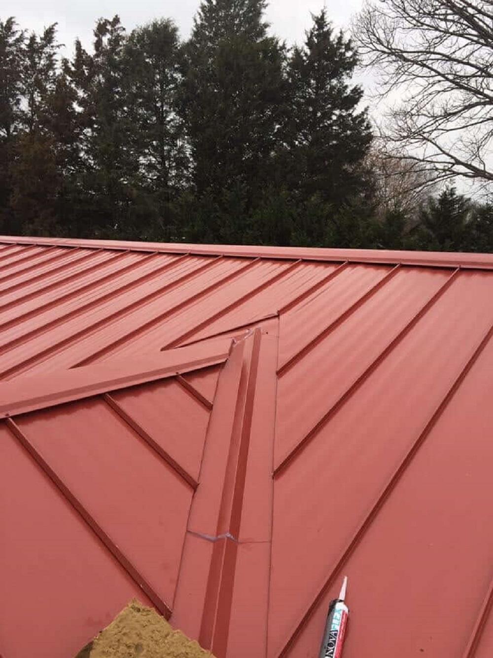 cubierta de chapa de cobertizo para caserio en Guipuzcoa donostia tejados donosti