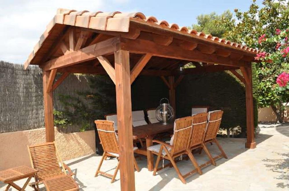 pergola de madera estructura de madera tejados Donosti