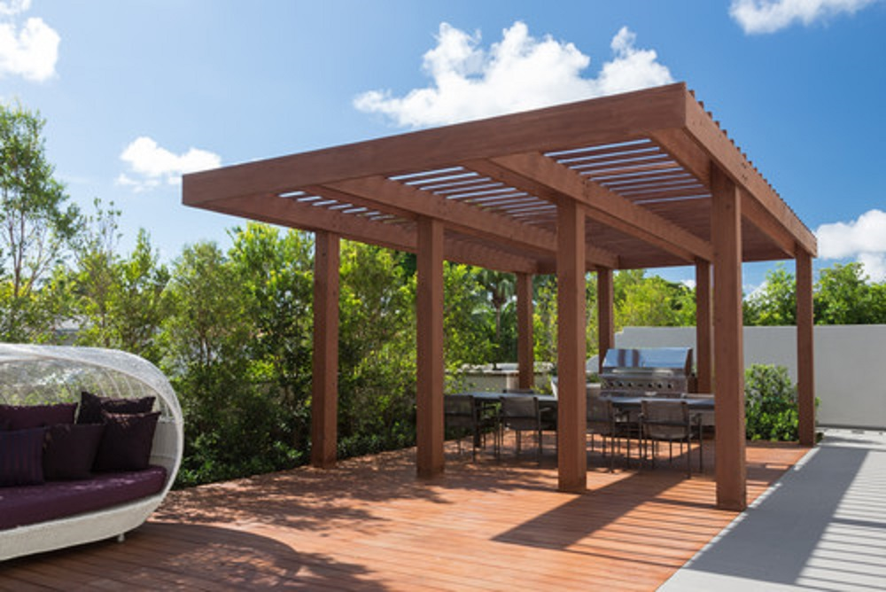 Pergola para el jardin en donosti estructuras de madera san sebastian