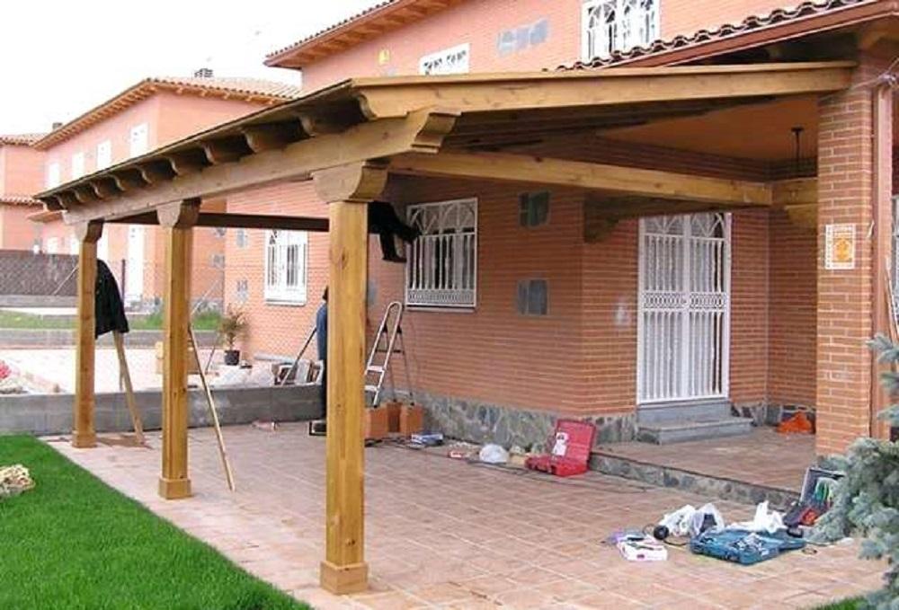 porche de madera estructuras de madera tejados Donosti